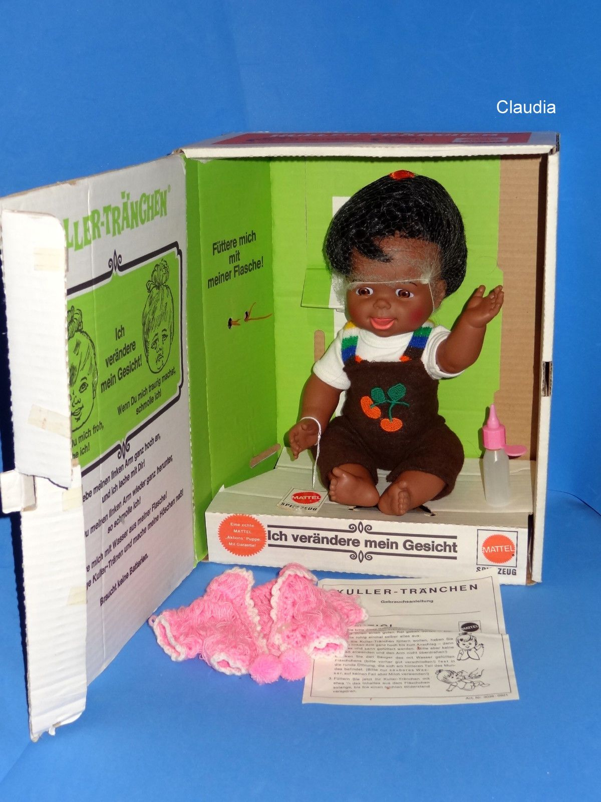 "Vintage Mattel Cheerful Tearful 13"" Doll German Kuller Tränchen African American 