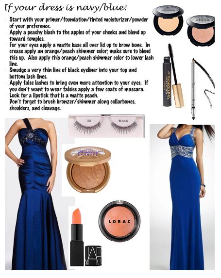 Makeup For A Navy Blue Dress Beauty Looks Blue Dress