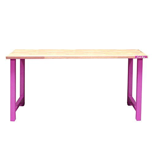 The Original Pink Box – Workbench with Maple Work Surface and Pink Legs **Free Shipping**