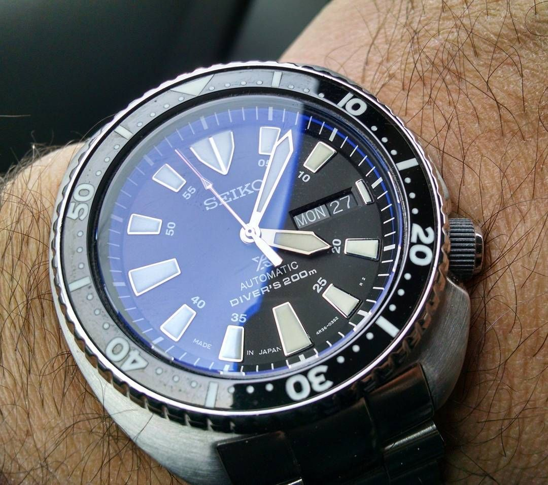 SEIKO Style Lumed Ceramic Bezel Insert from L C B I on Custom SRP
