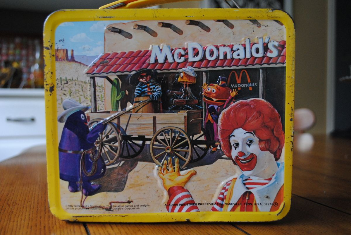 1982 McDonald's western-themed Tin Lunch Box by Aladdin