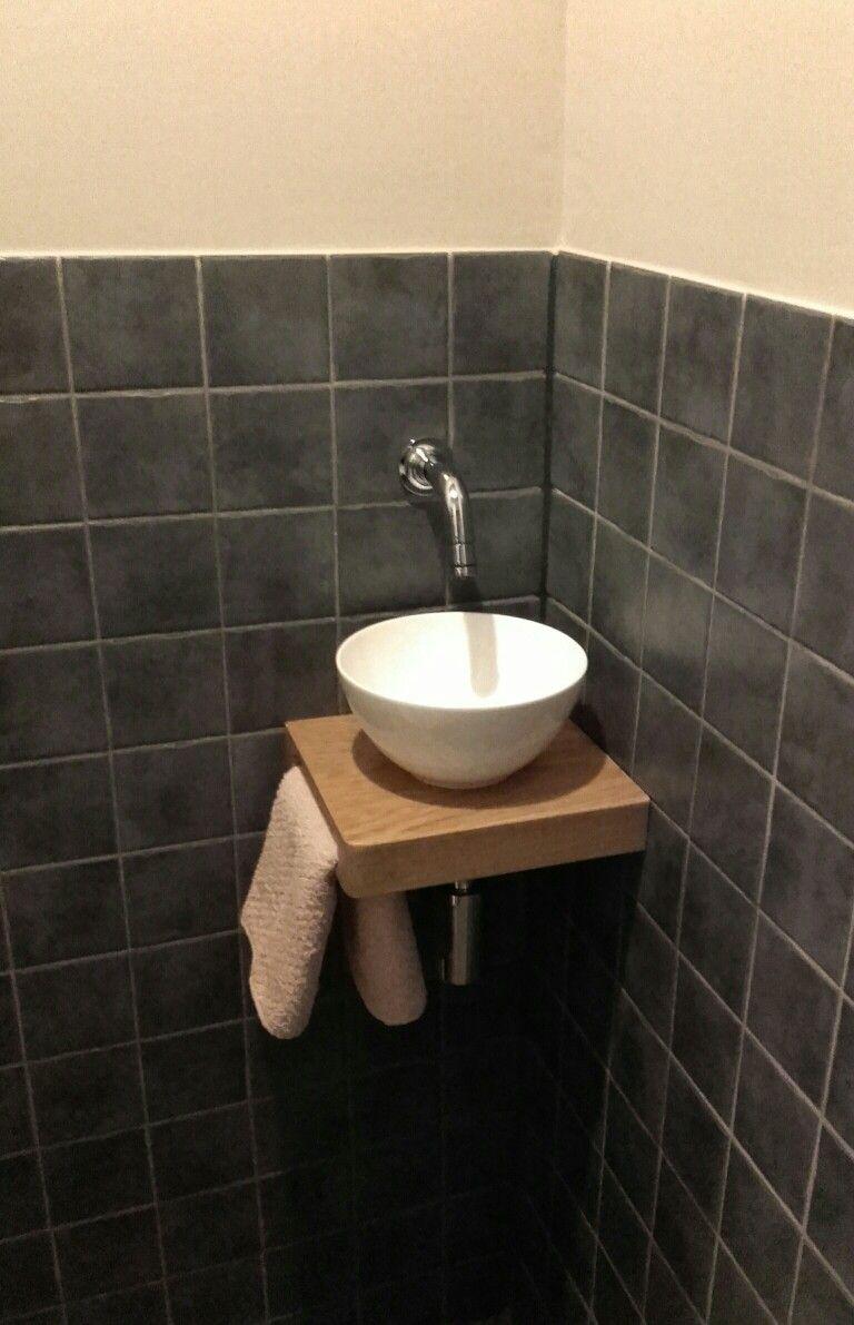 Onwijs Toilet: mini waskom op eiken plankje | i n t e r i o r in 2019 AW-49