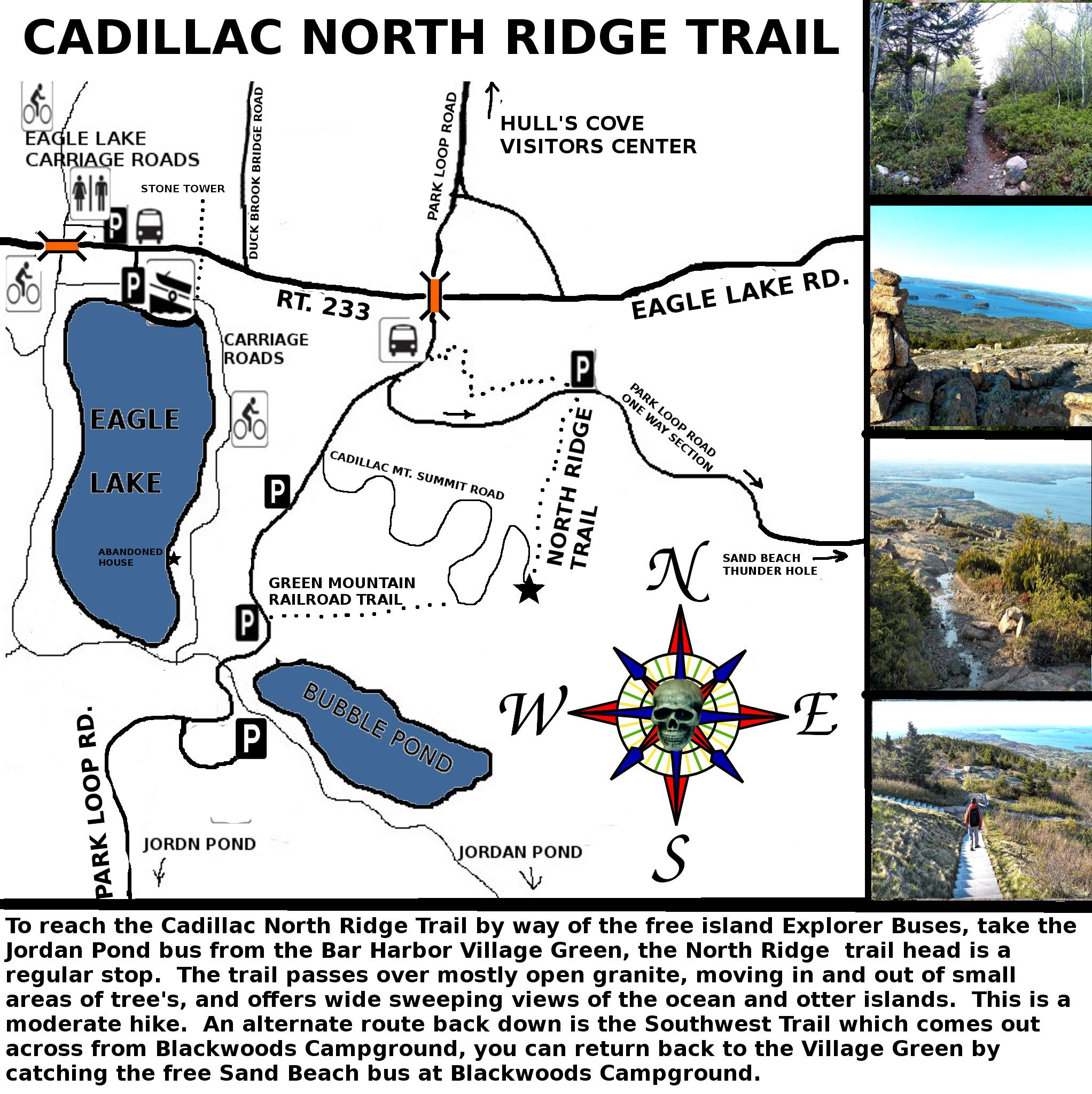 cadillac mountain north ridge trail - acadia national park. this is