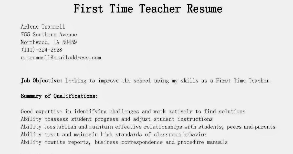 First time job resume unique resume samples first time