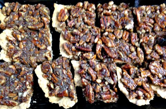 Maple Pecan Bars recipe: with maple syrup, whole wheat pastry flour, vegan butter, pecans, almond milk...