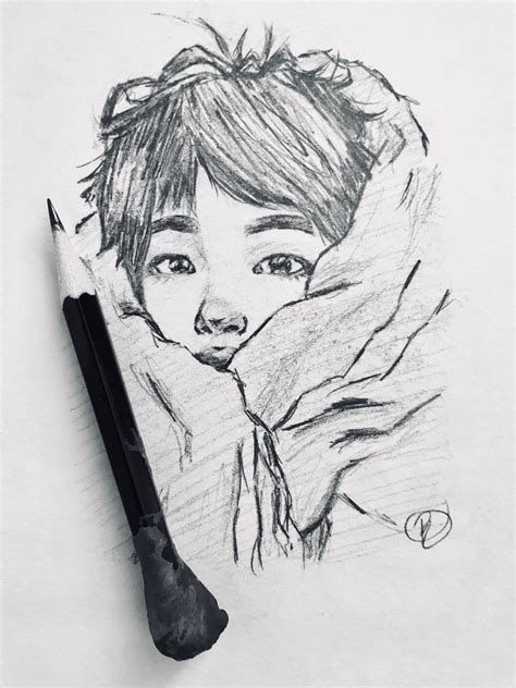 Photo of Worldwide Cutieeee ?♥️♥️ #art #jin #bts #sketch #fanart #