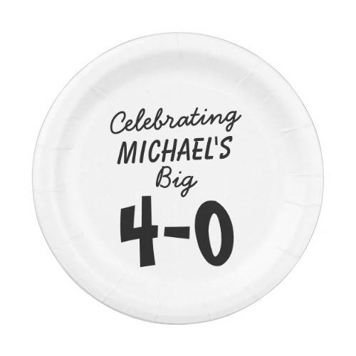 Personalized Celebrating the Big 4-0 40th Birthday Paper Plate  sc 1 st  Pinterest & 40th Birthday Personalized Paper Plates | 40 birthday and Birthdays
