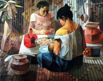 'Give Us This Day Our Daily Bread' by Vicente Manansala