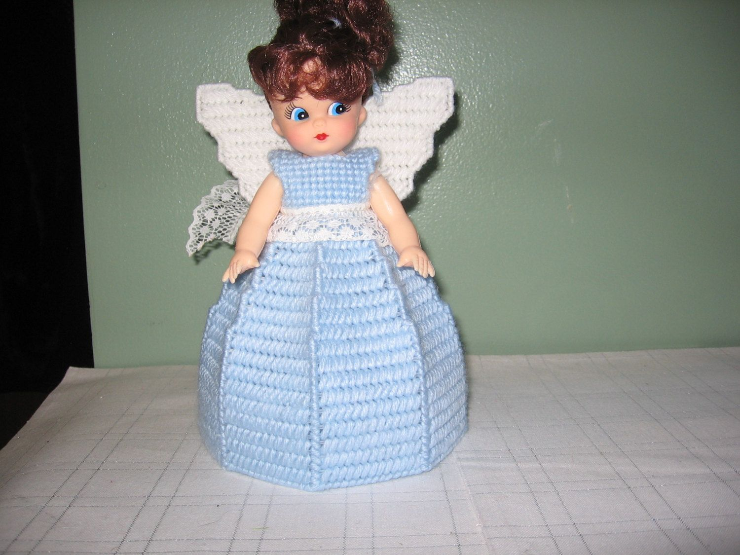 Light Blue Angel Air Freshner or Angel Tree Topper Collectible Doll by CreationsbyAMJ on Etsy #airfreshnerdolls