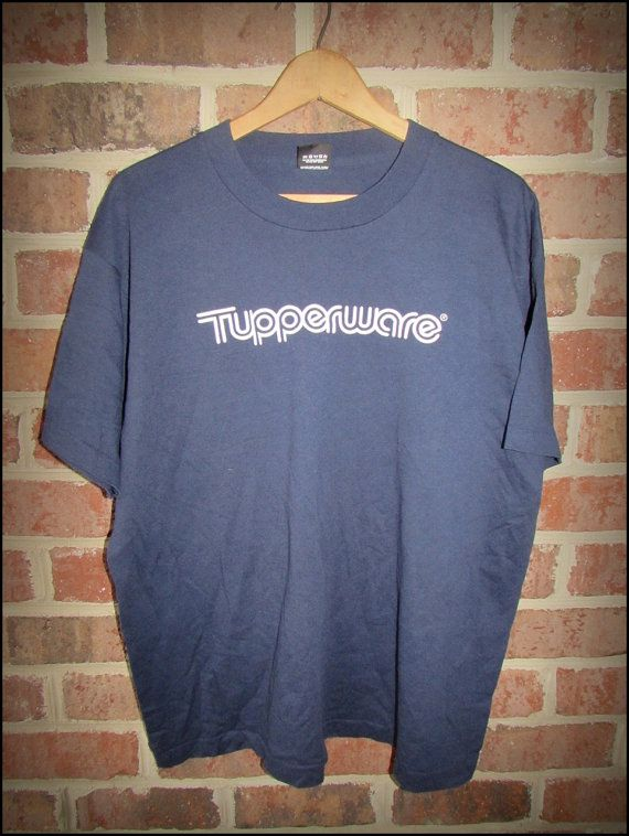 Vintage 80's Tupperware Brand Logo  Shirt   by CharchaicVintage, $14.00