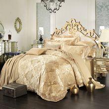 8361b24627 100% algodão roupa de cama de cetim bordado Jacquard jogo de cama de luxo    conjunto completo   rainha   rei(China (Mainland))