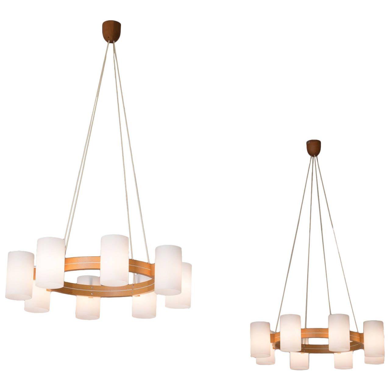 Set of two scandinavian chandeliers by luxus scandinavian