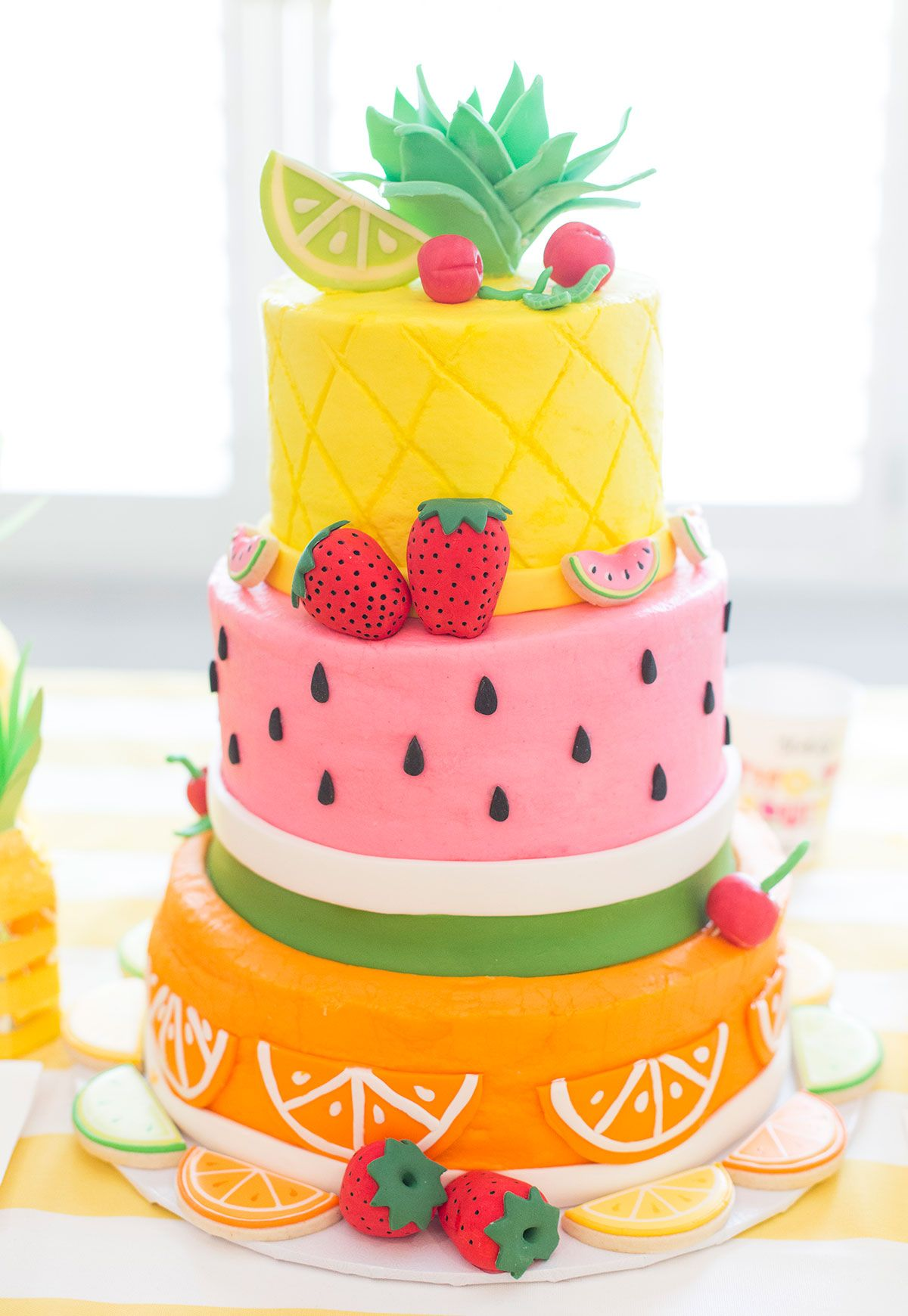 Fruit De Decoration Pour Gateau Two Tti Fruity Birthday Party Blakely Turns 2 Anniversaire