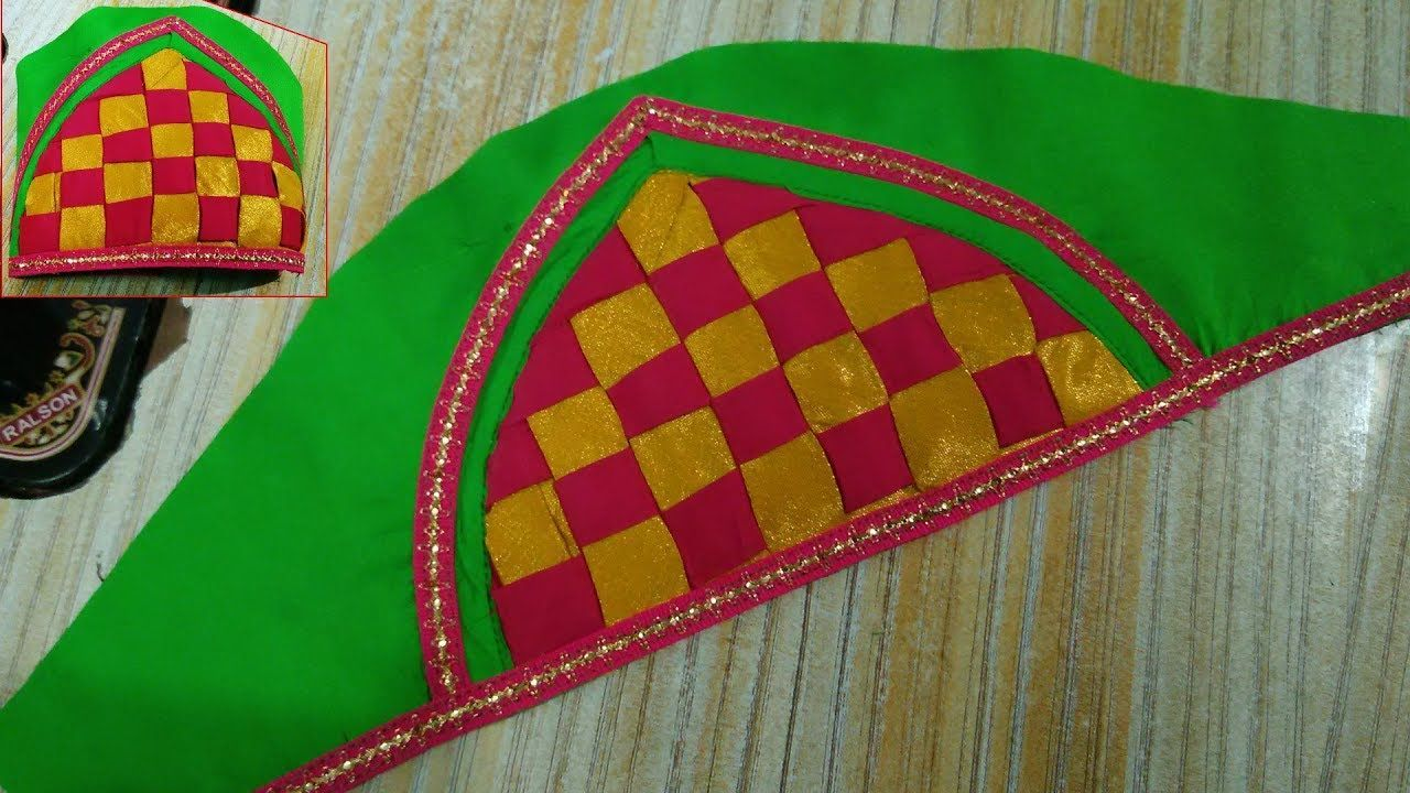 Saree blouse design cutting and stitching patch work bridal blouse sleeves cutting and stitching babyblouses