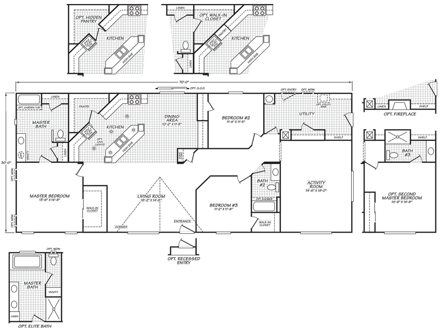 Snohomish Floor Plan Factory Expo Home Centers Mobile Home Floor Plans Floor Plans Fleetwood Homes