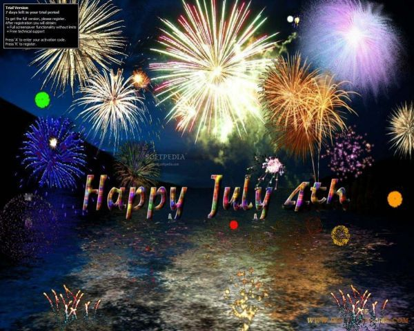 3d 4th Of July Screensavers Free 4th Of July Fireworks 3D