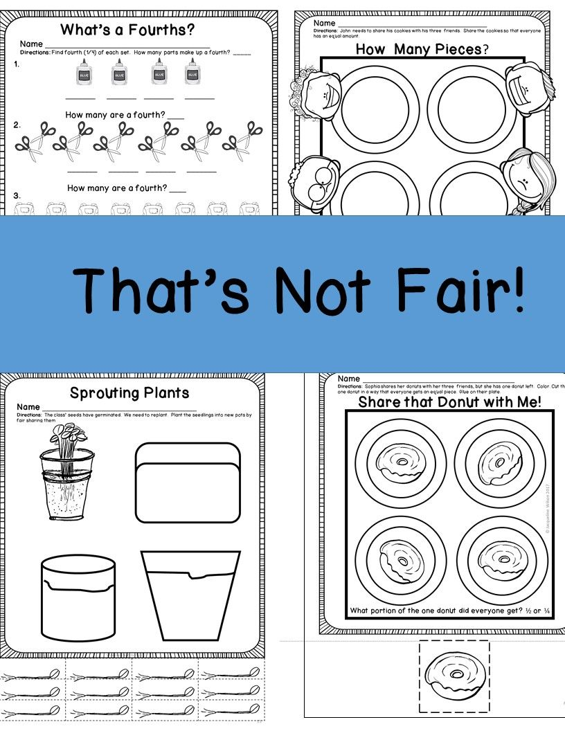 Fair Share or Equal Parts | Pinterest | Math, Kindergarten and ...