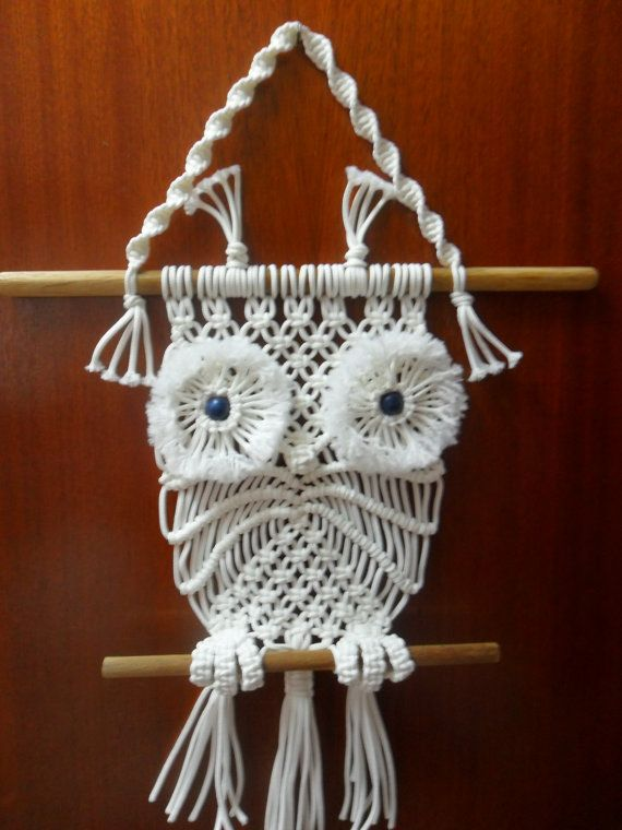 macrame wall hanging owl makrame pinterest. Black Bedroom Furniture Sets. Home Design Ideas