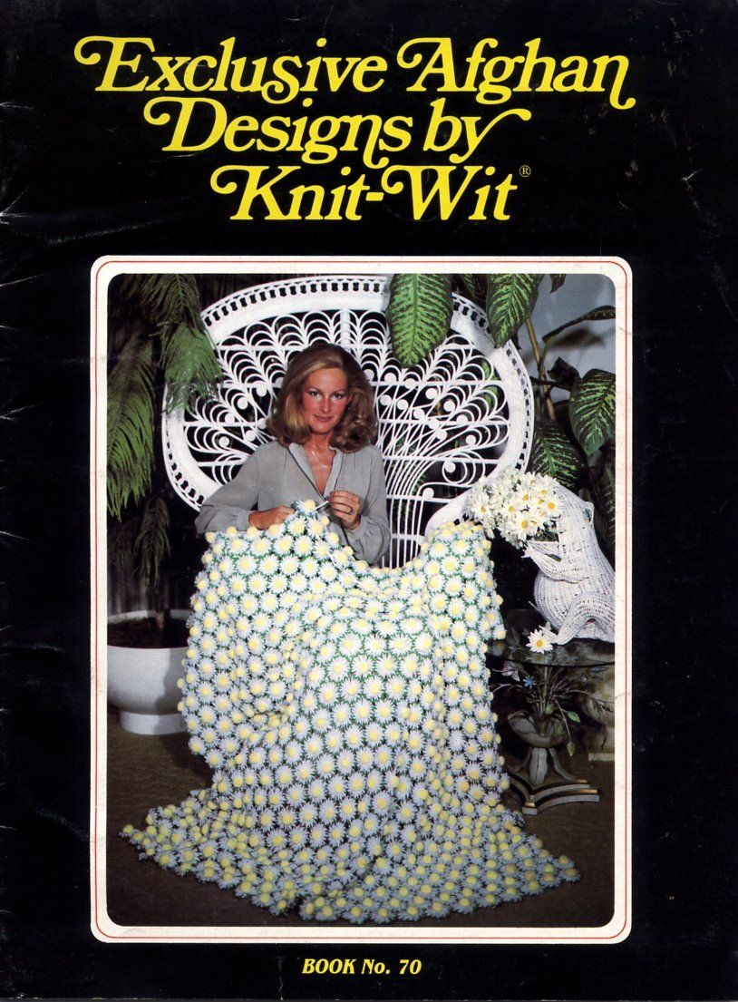 Exclusive Afghan Designs by Knit-Wit Pattern Book No. 70 | crochet ...
