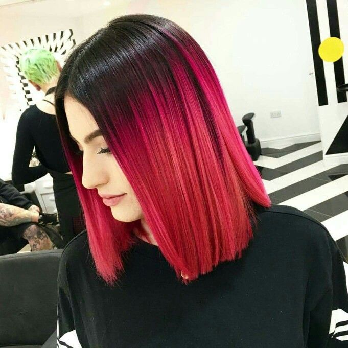 Black And Red Hairstyles For Long Hair Hair Styles Edgy Hair Edgy Hair Color