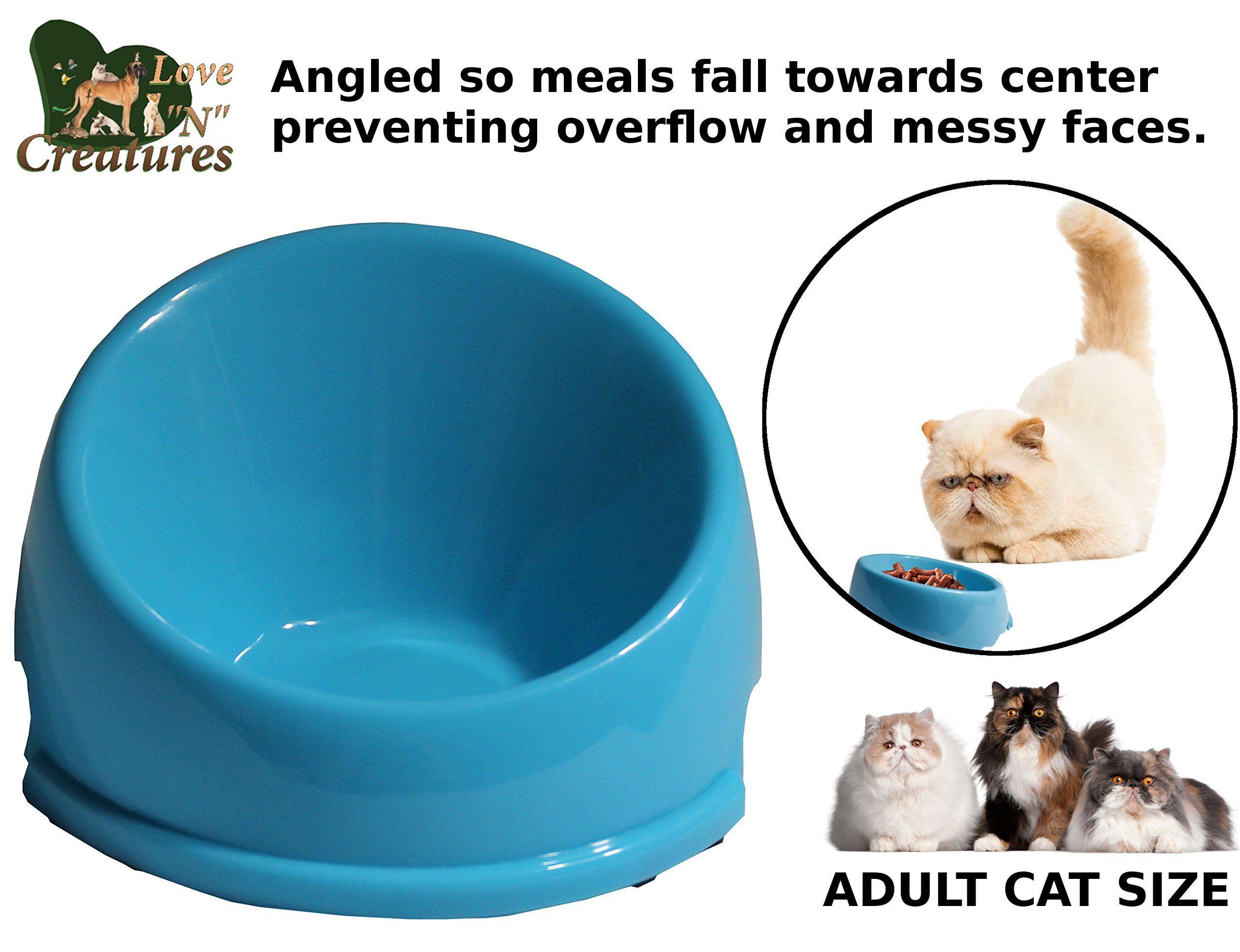 Love N Creatures Mess Free Pet Food Dish Persian Cat Feeding Bowl
