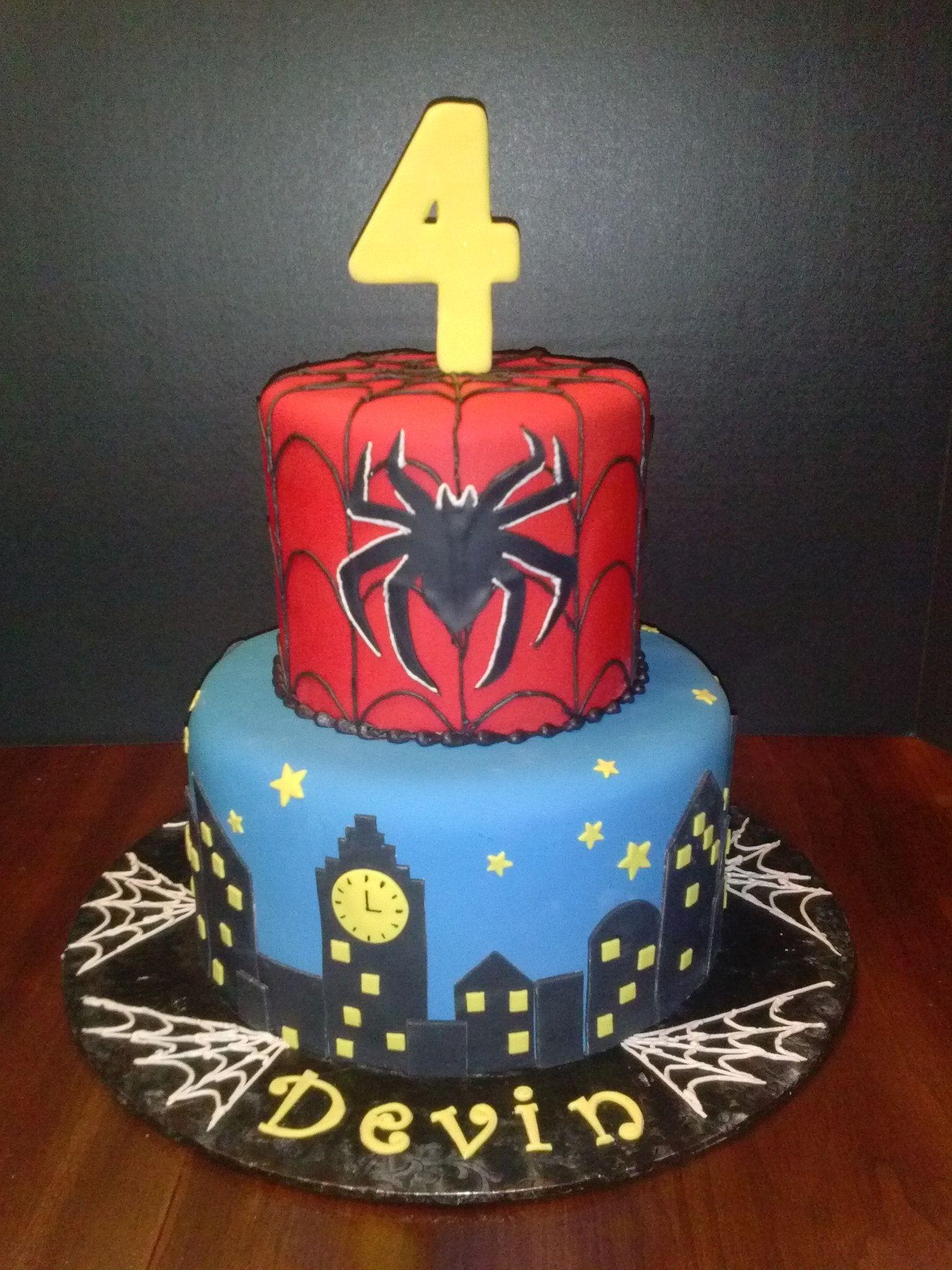 CAM01305 Spiderman birthday cake Cake and Birthday cakes