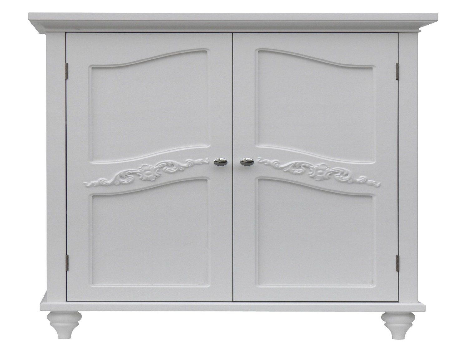 91 Amazon Com Elegant Home Fashion Vera 2 Door Floor Cabinet White Home House Styles Elegant Homes Storage Cabinets