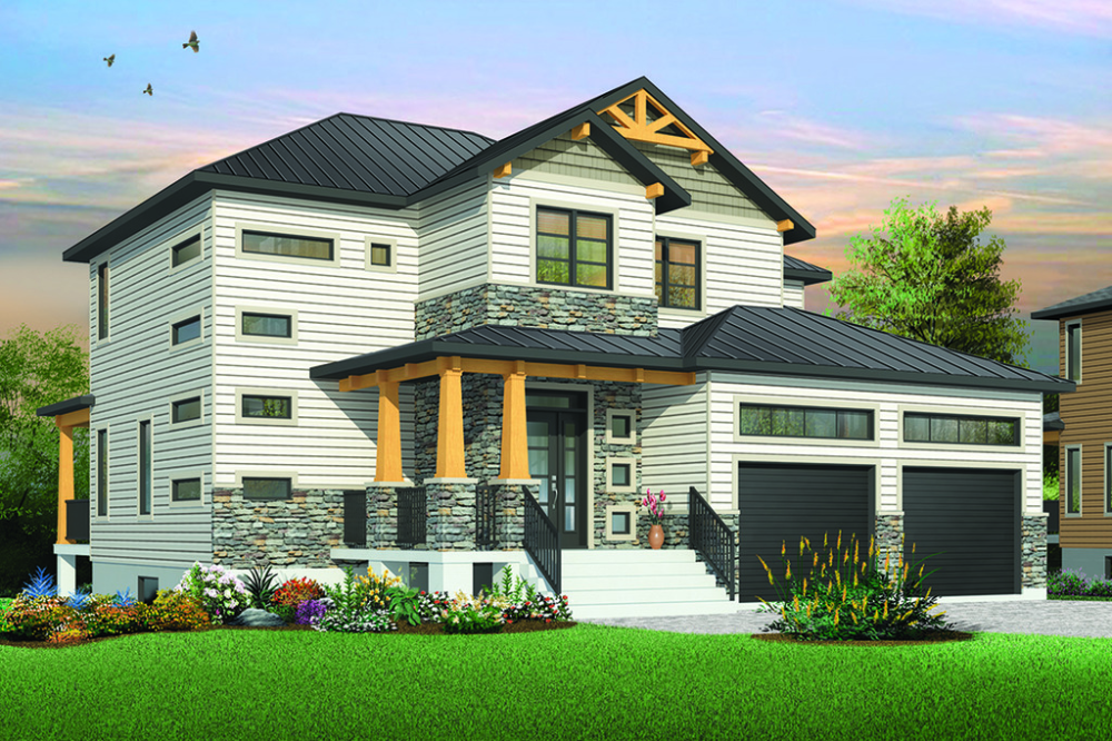 Craftsman Style House Plan 4 Beds 2 5 Baths 2050 Sq Ft Plan 23 2704 Craftsman Style House Plans Craftsman House Plans Modern Style House Plans