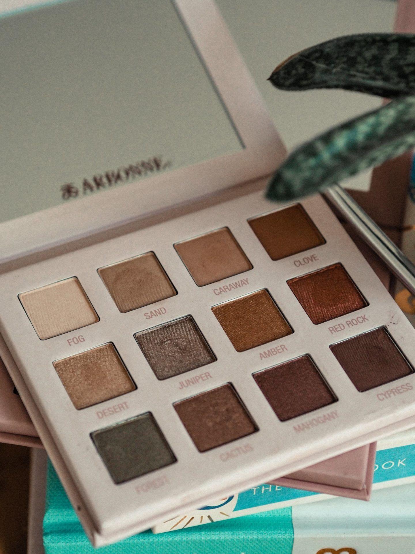 Review Arbonne makeup, Shadow palette