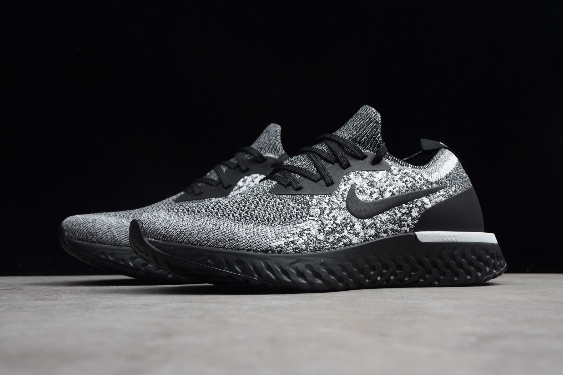 "dca8155892a8 Nike Epic React Flyknit ""Cookies and Cream"" AQ0067-011"