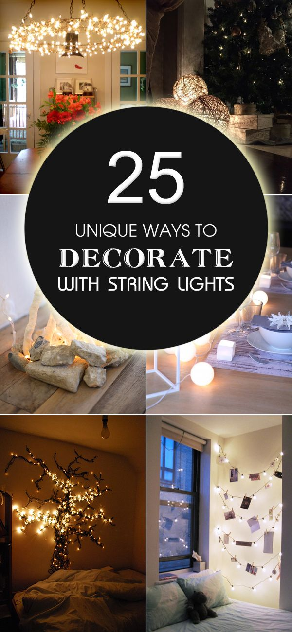 25 unique ways to decorate with string lights diy - How can you spice up the bedroom ...