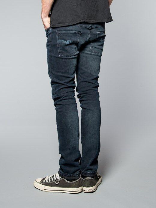 0bdf0c25c98 Thin Finn Organic Blue Strike - Nudie Jeans Co Online Shop