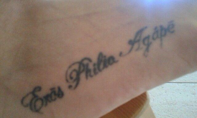 Eros, philia e agape