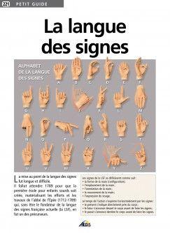 Petit Guide La Langue Des Signes Langue Des Signes Signs Langue
