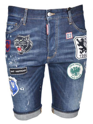 Verwonderlijk Pin by ModeSens on Dsquared2 Men | Mens distressed denim shorts FL-98