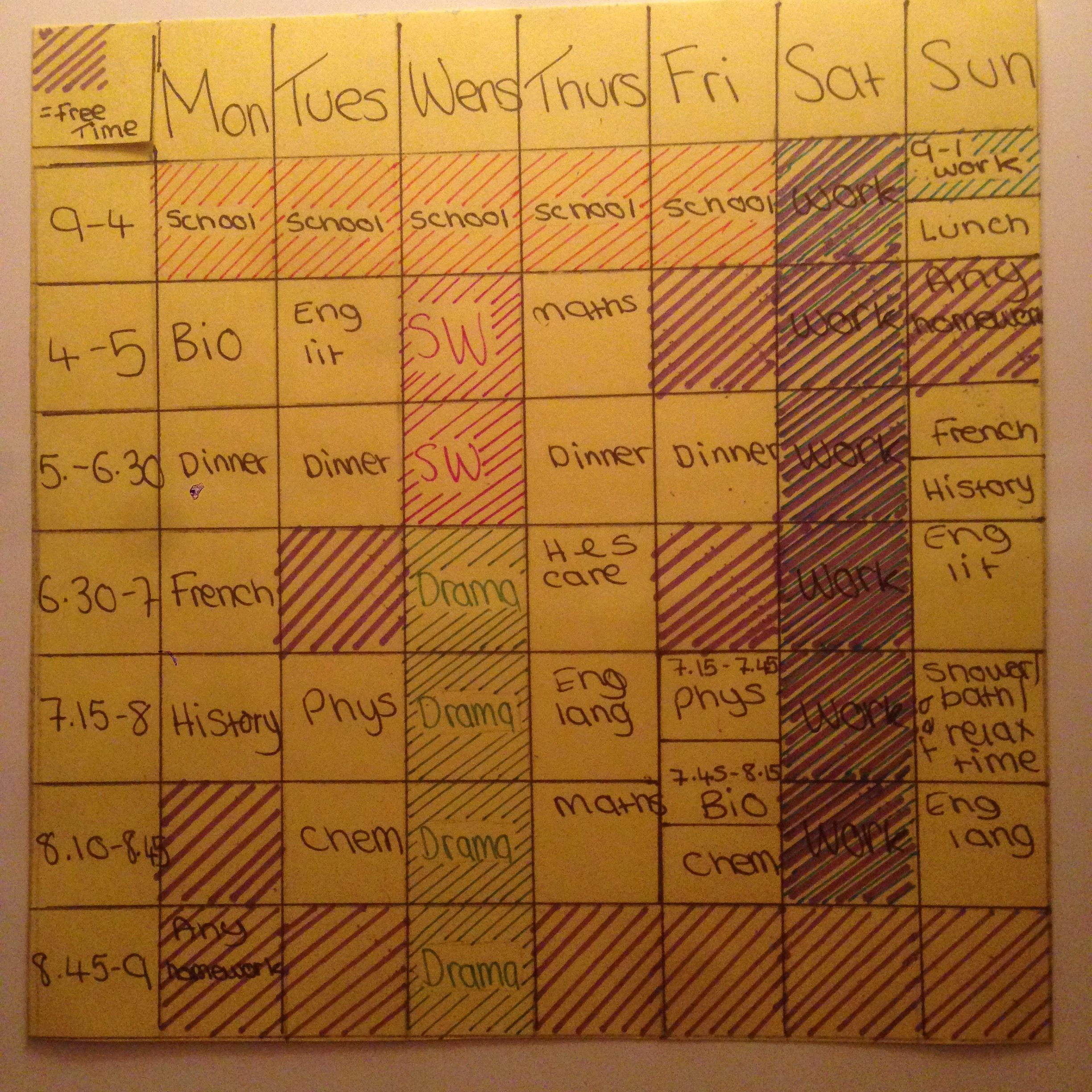 My Revision Timetable For Jan   Inspired By Another Pin