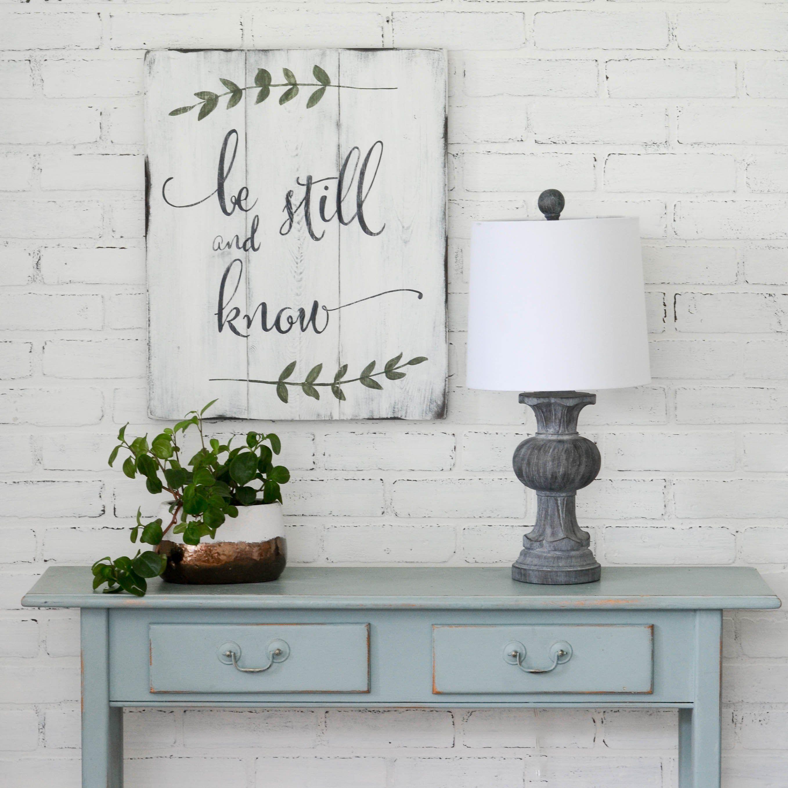 Be still sign craft