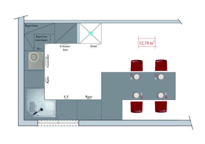 Idée relooking cuisine Cuisine en G 12 m2 Décoration Maison