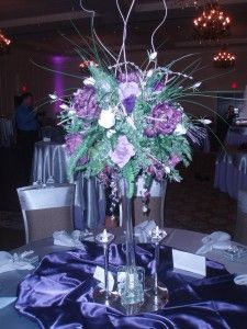 Wedding Decorations Centerpieces Beautiful Purple Table Centerpiece