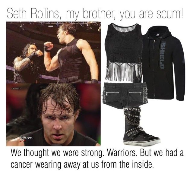 """""""The Shield Respond's to Seth Rollins Betrayal"""" by sillydevil ❤ liked on Polyvore featuring WWE, Balmain, Rock & Candy, InspiredBy, theshield and wwediva"""