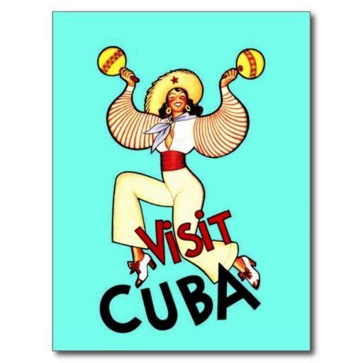 Visit Cuba Vintage Travel Postcard | Zazzle.com #visitcuba