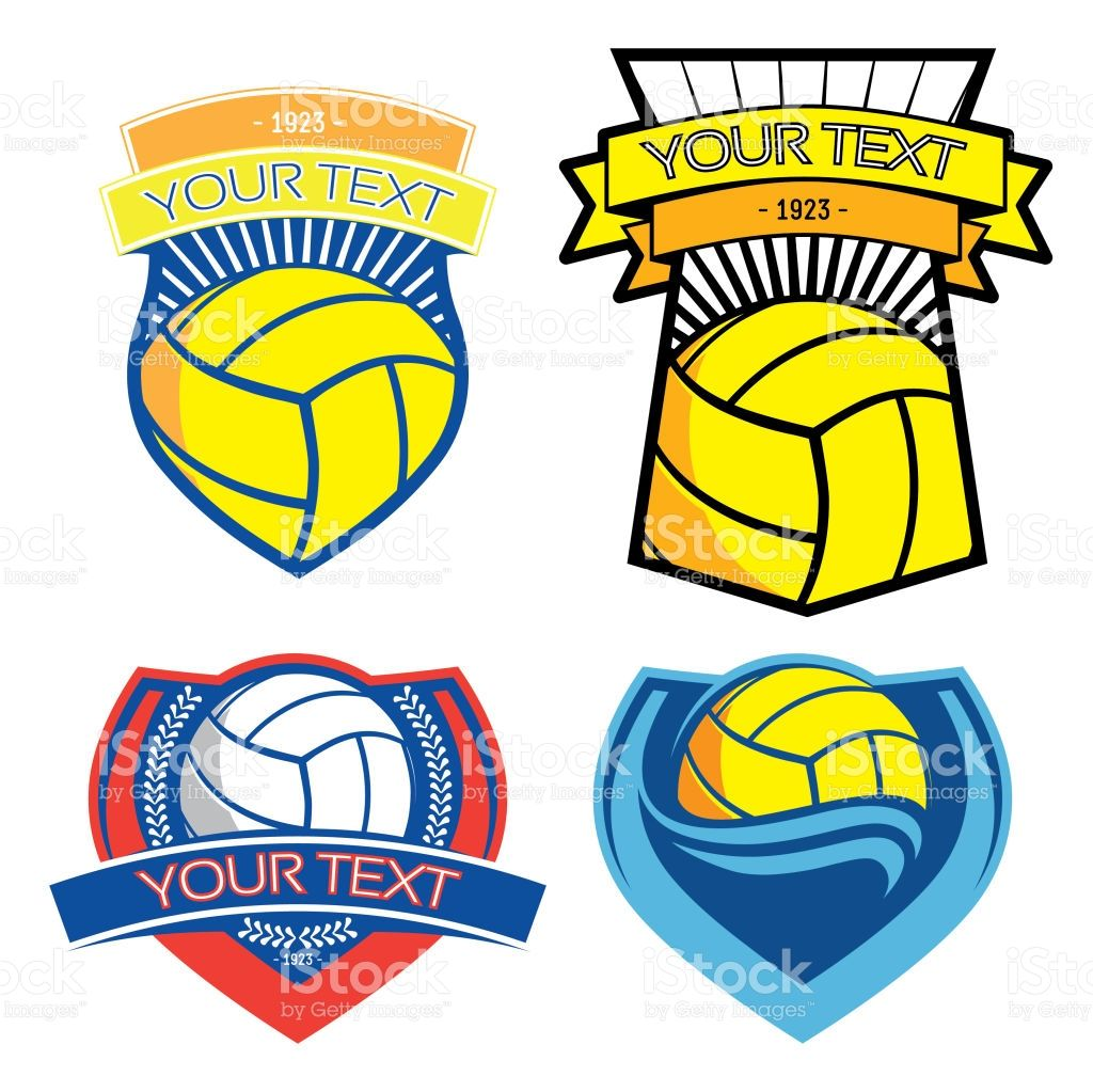 Volleyball And Water Polo Emblems On Isolated Background Water Polo Emblems Clip Art