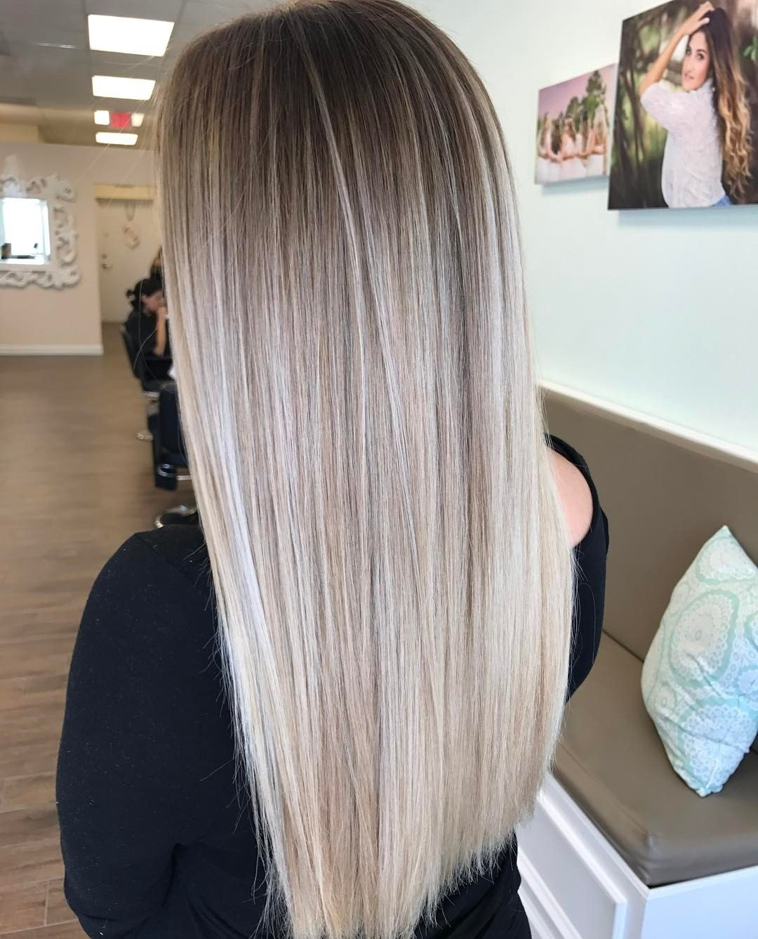 Behind The Chair Ombre Pin By Caity Amen On Hair Hair Hair Painting Blonde Hair