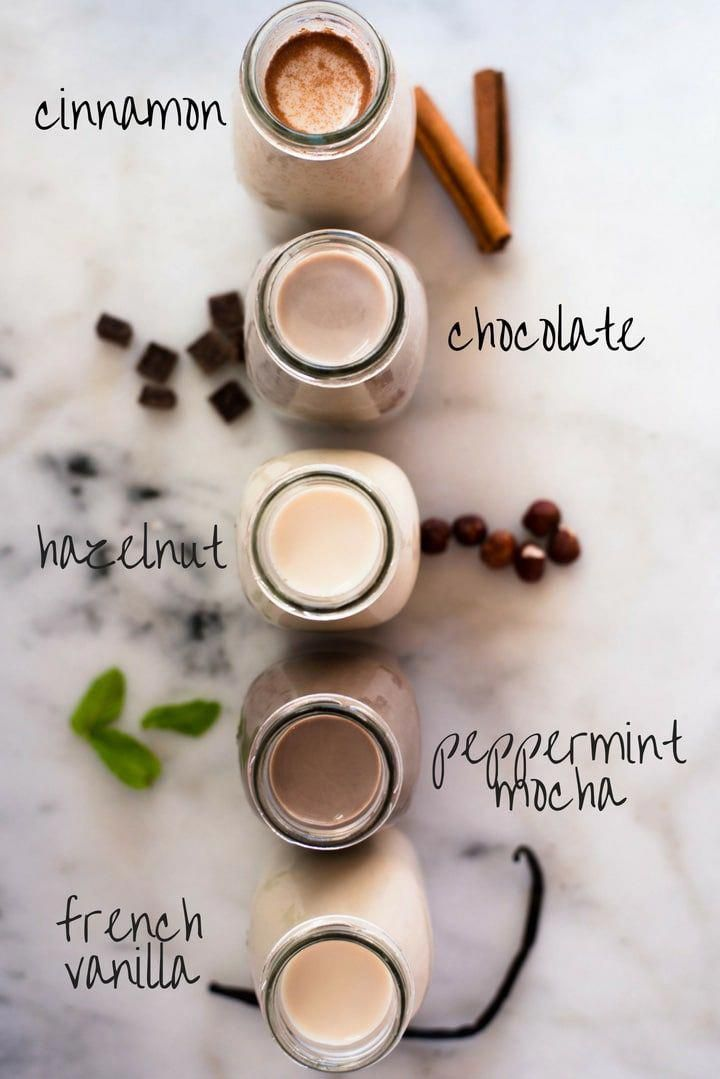 How to Make Coffee Creamer + 5 Easy Flavors | Recipe | Homemade coffee creamer, Coffee creamer ...