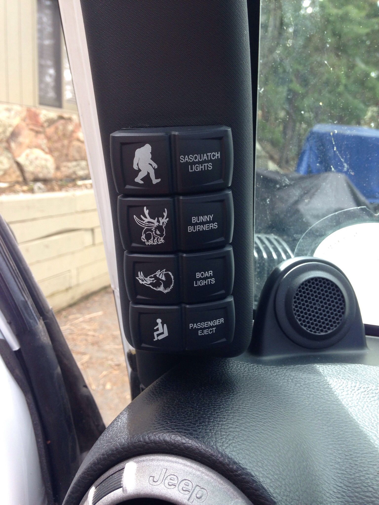 Details About 0710 Jeep Jk Wrangler Lower Dash Switch