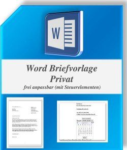 Word Briefvorlage Mit Steuerelementen Zum Download Briefvorlagen