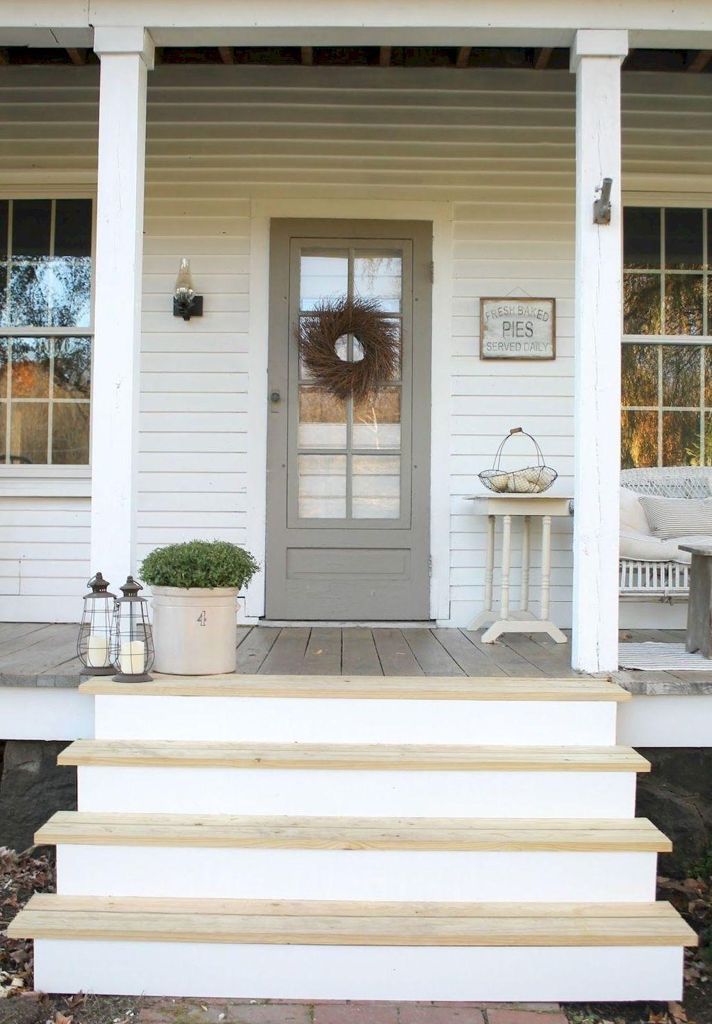 Nice 120 beautiful farmhouse front porch decorating ideas https moodecor co