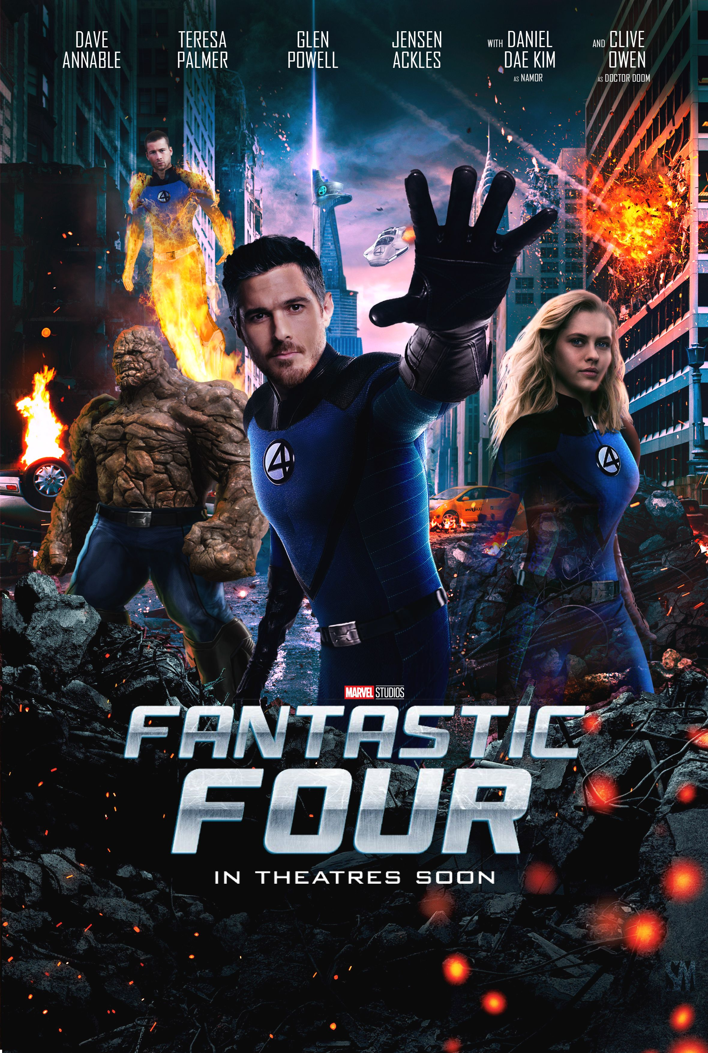 Fantastic four mcu poster fantastic four movie