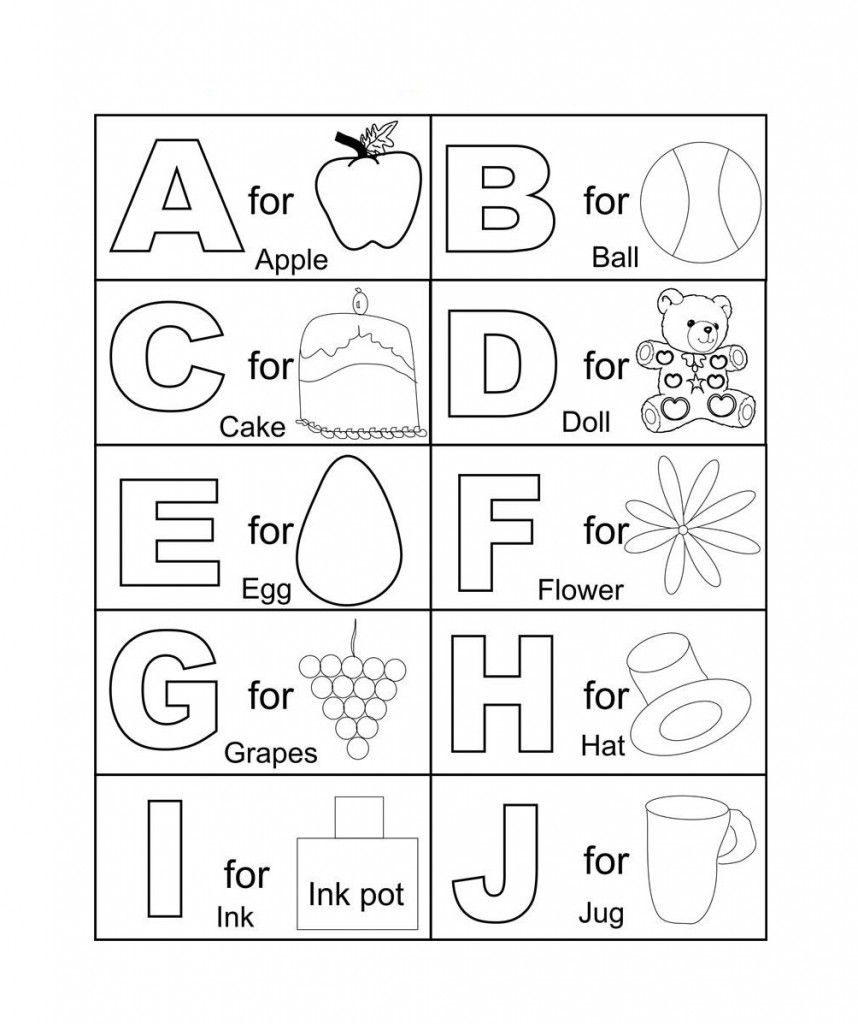 Free Printable Abc Coloring Pages For Kids   Coloring worksheets for  kindergarten [ 1024 x 858 Pixel ]