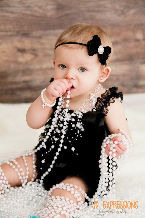 ebfeba105125 Black Bow Baby Headbands Newborn Headband by BabyliciousDivas